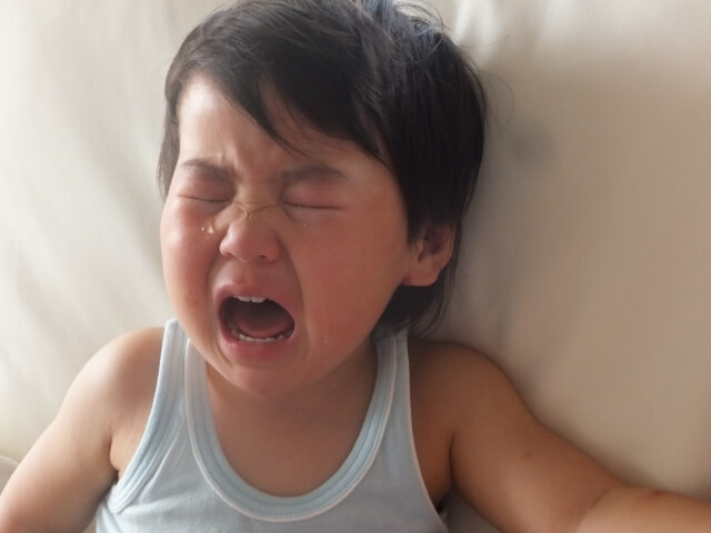 2歳の子どもの夜泣き