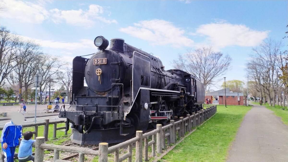 農試公園の機関車